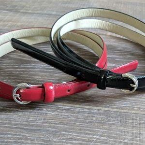 Accessories - Pair of Skinny Belts